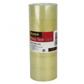 Scotch Easy Tear Clear Tape 24mm x 33m (Pack of 6) ET2433T6