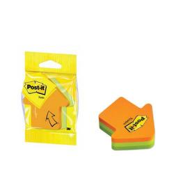 Cheap Stationery Supply of Post-it Notes 70 x 70mm Arrow Neon Orange and Green (Pack of 12) 3M34983 Office Statationery