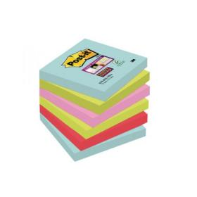 Post-it Super Sticky Notes 76 x 76mm Miami (Pack of 6) 654-6SS-MIA