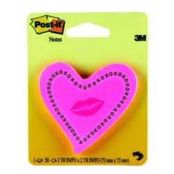 Cheap Stationery Supply of Post-it Notes Heards with Neon Lips Pink 50 Sheets 6370-HTL Office Statationery