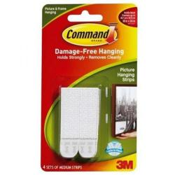 Cheap Stationery Supply of 3M Command Medium Picture Hanging Strips 3 for 2 Office Statationery
