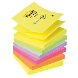 Cheap Stationery Supply of Post-it Z-Notes 76x76mm Neon Rainbow (Pack of 6) R330NR Office Statationery