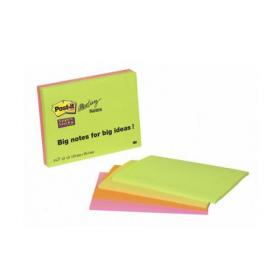 Post-it Super Sticky Meeting 149x98mm Neon Asrtd (Pack of 4) 6445-4SS