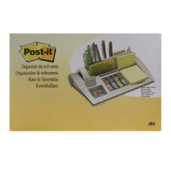 Cheap Stationery Supply of Post-it Desk Organiser Silver 6 Compartment 7000062207 Office Statationery