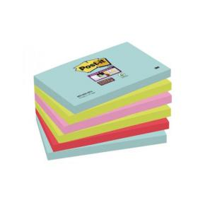Post-it Notes Super Sticky 76 x 127mm Miami (Pack of 6) 655-6SS-MIA
