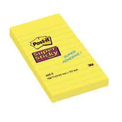 Cheap Stationery Supply of Post-it Super Sticky 152 x 102mm Lined Ultra Yellow (Pack of 6) 660S Office Statationery