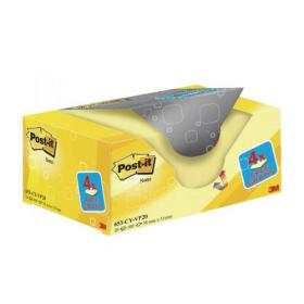 Post-it Notes 38 x 51mm Canary Yellow (Pack of 20) 653CY-VP20