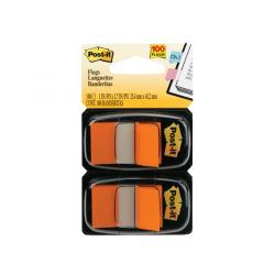 Cheap Stationery Supply of Post-it Index Tabs Dispenser with Orange Tabs (Pack of 2) 680-O2EU Office Statationery