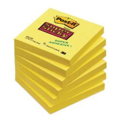 Cheap Stationery Supply of Post-it Notes Super Sticky 76x76mm Ultra Yellow 90 Sheets (Pack of 6) 654-S6 Office Statationery