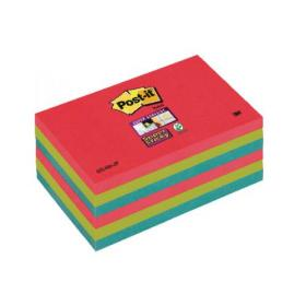 Post-it Notes Super Sticky 76x127mm BoraBora (Pack of 6)70-0051-9805-9
