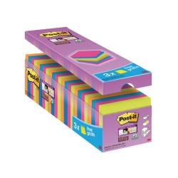 Cheap Stationery Supply of Post-it Super Sticky 76x76mm Assorted (Pack of 24) 654-SS-VP24COL-EU Office Statationery