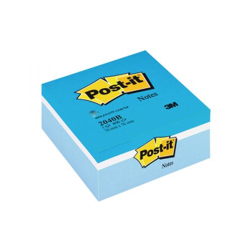 Post-it Colour Cube Blue 76x76mm Notes 2040B