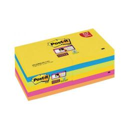 Cheap Stationery Supply of Post-it Super Sticky Z-Notes 76x 76mm Rio (Pack of 12) R330-SSRIO-P9+3 Office Statationery
