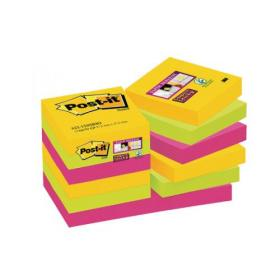 Post-it Notes Super Sticky 47.6 x 47.6mm Rio (Pack of 12) 622-12SSRIO