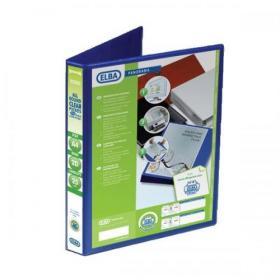 Elba Panorama Presentation Ring Binder PP 2 D-Ring 25mm Capacity A4 Blue Ref 400008412 Pack of 6