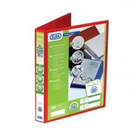 Elba Panorama Presentation Ring Binder PP 2 D-Ring 25mm Capacity A4 Red Ref 400008676 Pack of 6