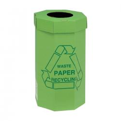 Cheap Stationery Supply of Acorn Green Bin for Recycling Waste Capacity of 60 Litres 360x677mm Green 402565 Pack of 5 Office Statationery
