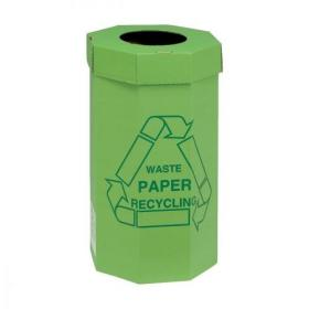 Acorn Green Bin for Recycling Waste Capacity of 60 Litres 360x677mm Green Ref 402565 Pack of 5