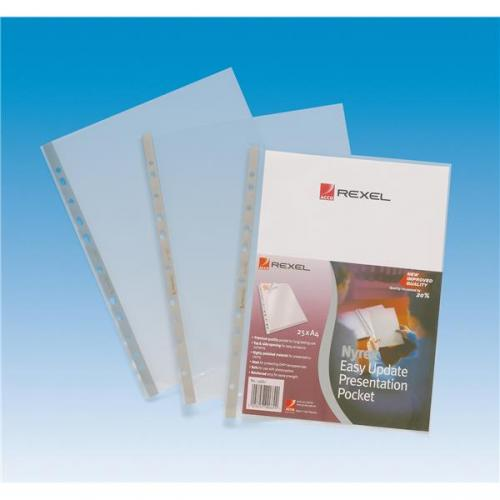 90 micron a4 premium glass clear punched pockets pack of 25