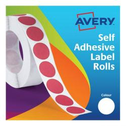 Cheap Stationery Supply of Avery Labels in Dispenser on Roll Round Diam.19mm White 24-404 1400 Labels Office Statationery
