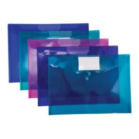 Concord Stud ID Wallet File Vibrant Polypropylene with Card Holder A4 Assorted Ref 7096-PFL Pack of 5
