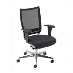 Cheap Stationery Supply of Adroit Zing Mesh High Back Chair (Black Upholstery with Chrome Metal Frame) with Adjustable Arms 10618-02M Office Statationery