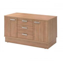 Cheap Stationery Supply of Adroit Virtuoso Return Desk Storage Unit W1200 x D600 x H705mm (Cherry Marbella) 421868 Office Statationery