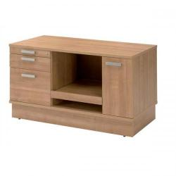 Cheap Stationery Supply of Adroit Virtuoso Return Desk Storage Unit with Printer Shelf W1200 x D600 x H705mm (Cherry Marbella) 421875 Office Statationery