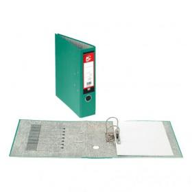 5 Star Office Lever Arch File 70mm A4 Green Pack of 10