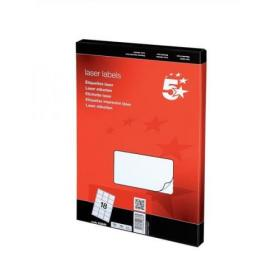 5 Star Office Multipurpose Labels Laser Copier Inkjet 18 per Sheet 63.5x46.6mm White 1800 Labels