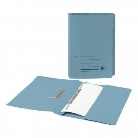 5 Star Office Transfer Spring Pocket File Recycled Mediumweight 285gsm Foolscap Blue Pack of 25