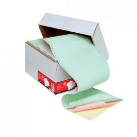 5 Star Office Listing Paper 4-Part NCR Perf 11inchx241mm Plain White/Yellow/Pink/Green 500 Sheets