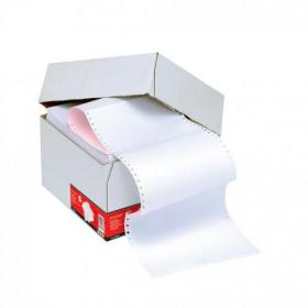 5 Star Office Listing Paper 2-Part Carbonless Perf 56/57gsm 11inchx241mm Plain White/Pink 1000 Sheets