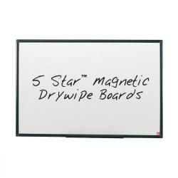 Cheap Stationery Supply of 5 Star Office Magnetic Drywipe Board Steel Trim with Fixing Kit and Detachable Pen Tray W900xH600mm Office Statationery