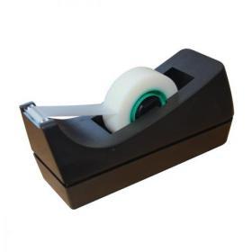 5 Star Office Tape Dispenser Desktop Roll Capacity 25mm Width 33m Length Black