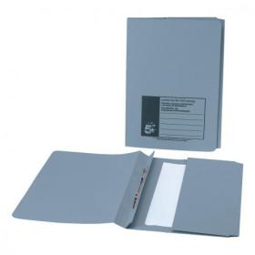5 Star Office Flat Bar Pocket File Recycled Manilla 285gsm Capacity 200 Sheets Foolscap Blue Pack of 25