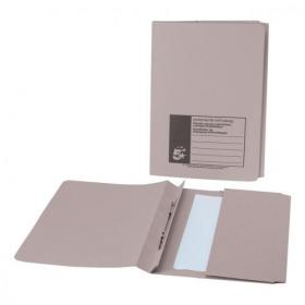5 Star Office Flat Bar Pocket File Recycled Manilla 285gsm Capacity 200 Sheets Foolscap Buff Pack of 25