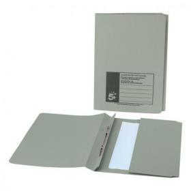 5 Star Office Flat Bar Pocket File Recycled Manilla 285gsm Capacity 200 Sheets Foolscap Green Pack of 25