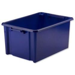 Cheap Stationery Supply of Strata Storemaster Jumbo Crate External W560xD385xH280mm 48.5 Litres Blue HW48 Office Statationery