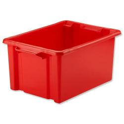 Cheap Stationery Supply of Strata Storemaster Maxi Crate External W470xD340xH240mm 32 Litres Red HW46 Office Statationery