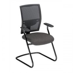 Cheap Stationery Supply of Adroit Zeste Cantilever Fabric Medium Back Chair (Shadow/Black Upholstery with Metal Frame) with Fixed Arms SP433392 Office Statationery