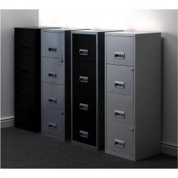 Cheap Stationery Supply of Filing Cabinet Steel 4 Drawer A4 400x400x1250mm 95809 Office Statationery