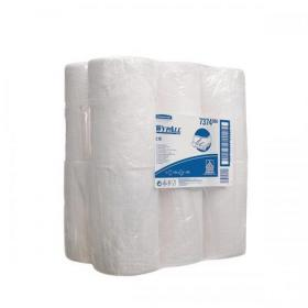Wypall L10 Centrefeed Wiper Roll 200 Sheets of 185x380mm White Ref 7374 Pack of 12