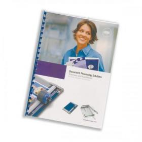 GBC Report Covers Front PVC A4 Clear and Back A4 Leathergrain White Ref CR140070 Pack of 25x2