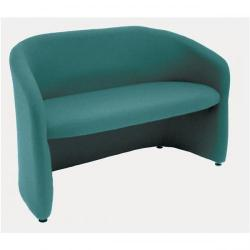 Cheap Stationery Supply of Adroit Omega Plus 2 Seater Fabric Medium Back Chair (Jade Upholstery with Wood Frame) 7819Jd Office Statationery