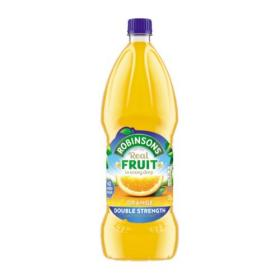 Robinsons Squash Double Concentrate No Added Sugar 1.75 Litres Orange Ref 200659 Pack of 2