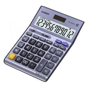 Casio Desktop Calculator 12 Digit 4 Key Memory Battery/Solar Power 126x36x175mm Silver Ref DF-120TER II
