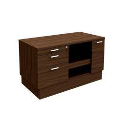 Cheap Stationery Supply of Adroit Virtuoso Executive Return Desk Storage Unit with Printer Shelf W1200 x D600 x H705 (Dark Walnut) 463551 Office Statationery