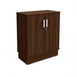 Cheap Stationery Supply of Adroit Virtuoso Executive Cupboard with Lockable Doors Low Unit W800xD420xH975mm (Dark Walnut) 463698 Office Statationery