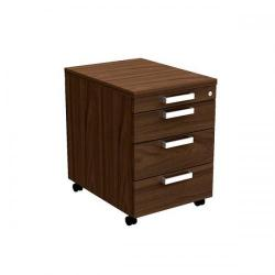 Cheap Stationery Supply of Adroit Virtuoso Executive 3 Drawer (+ Tray) Mobile Pedestal W432 x D580 x H602mm (Dark Walnut) 463998 Office Statationery